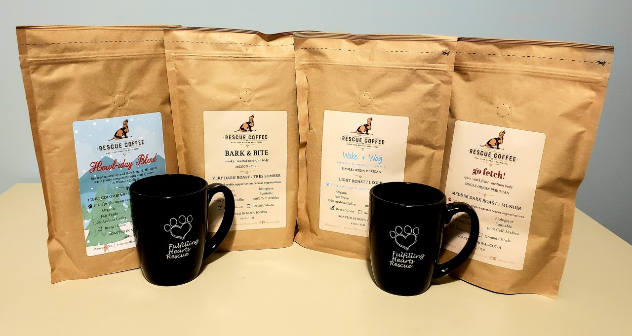 Coffee mugs and Rescue coffee!